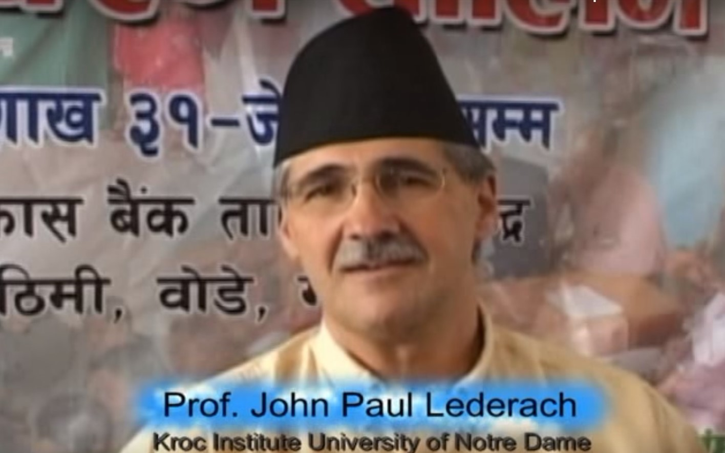 Prof John Paul Lederach's Views on Conflict Transformation Movement in Nepal
